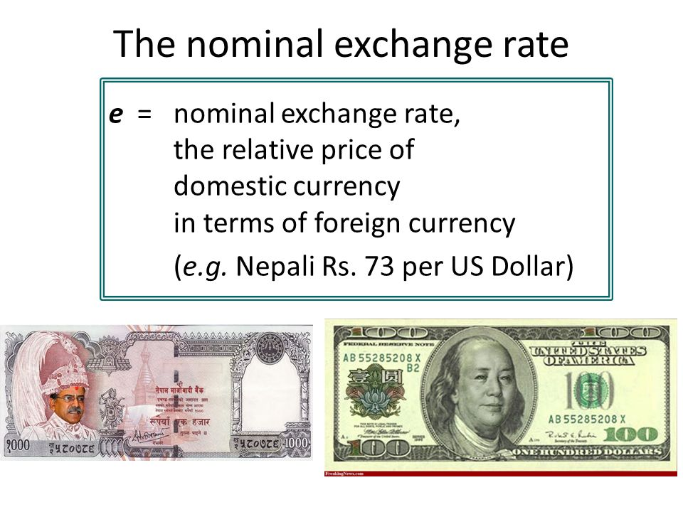 24 The Nominal Exchange Rate