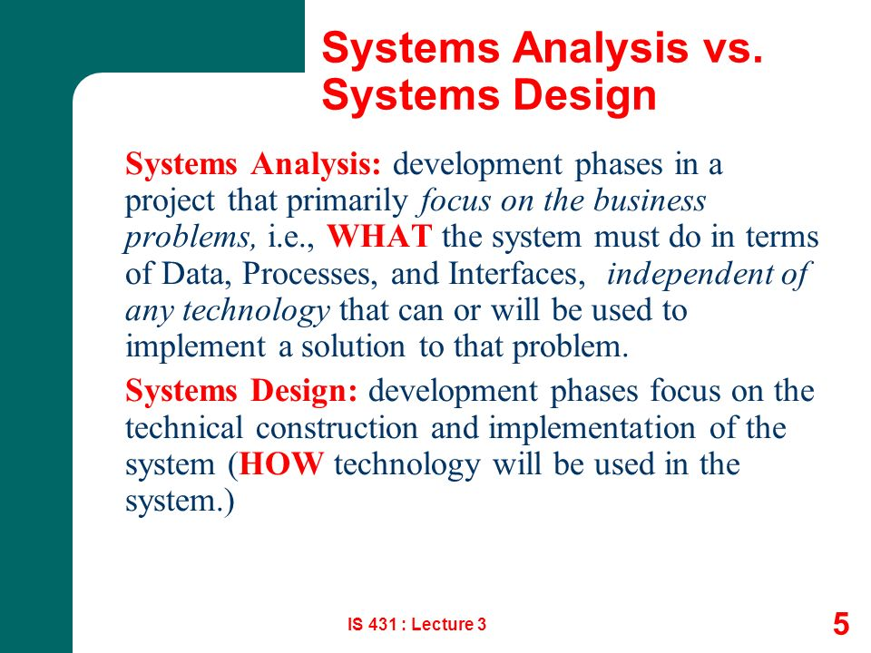 Systems Analysis Design Ppt Video Online Download
