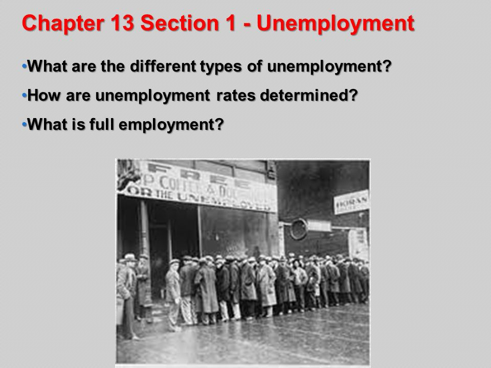 Chapter 13 Section 1 Unemployment Ppt Download. Chapter 13 Section 1 Unemployment. Worksheet. 13 1 Unemployment Worksheet At Clickcart.co