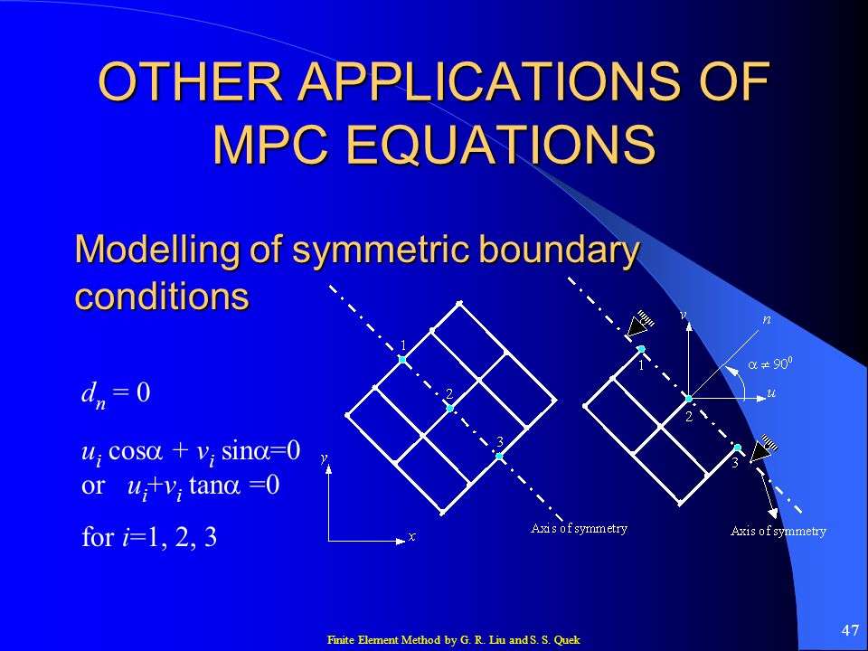 OTHER APPLICATIONS OF MPC EQUATIONS