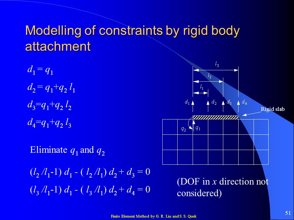 Modelling of constraints by rigid body attachment