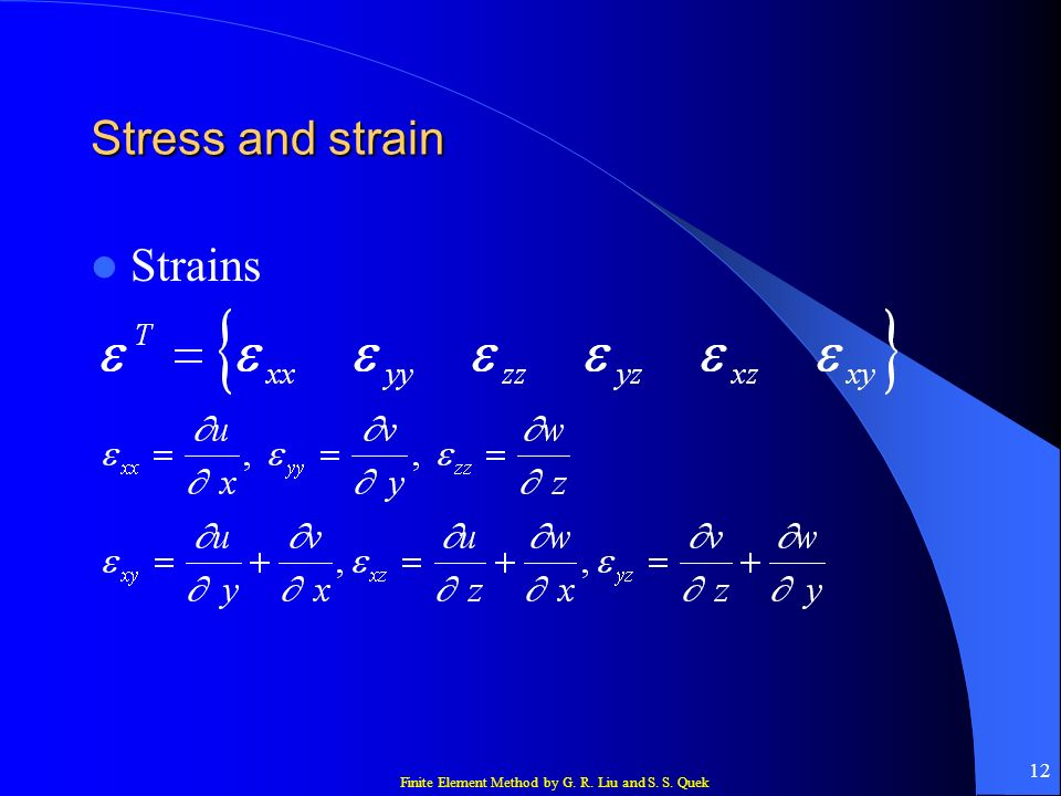 Stress and strain Strains