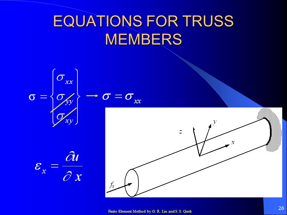 EQUATIONS FOR TRUSS MEMBERS