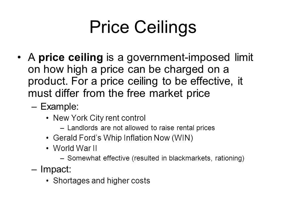 Examples Of Price Ceilings Image Collections Example Cover Letter