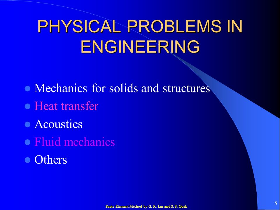 PHYSICAL PROBLEMS IN ENGINEERING