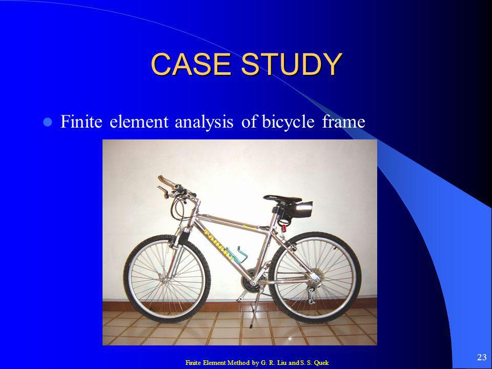 CASE STUDY Finite element analysis of bicycle frame