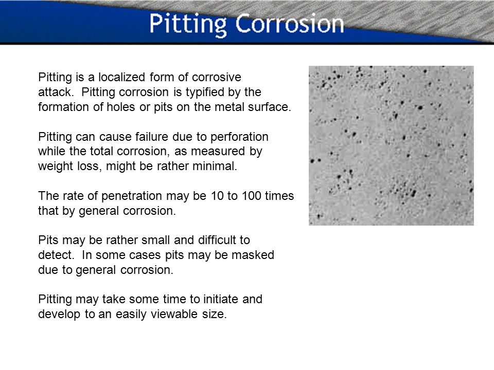 Uniform Or General Corrosion Is Typified By The Rusting Of Steel