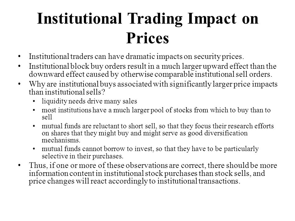 Institutional Trading Impact on Prices