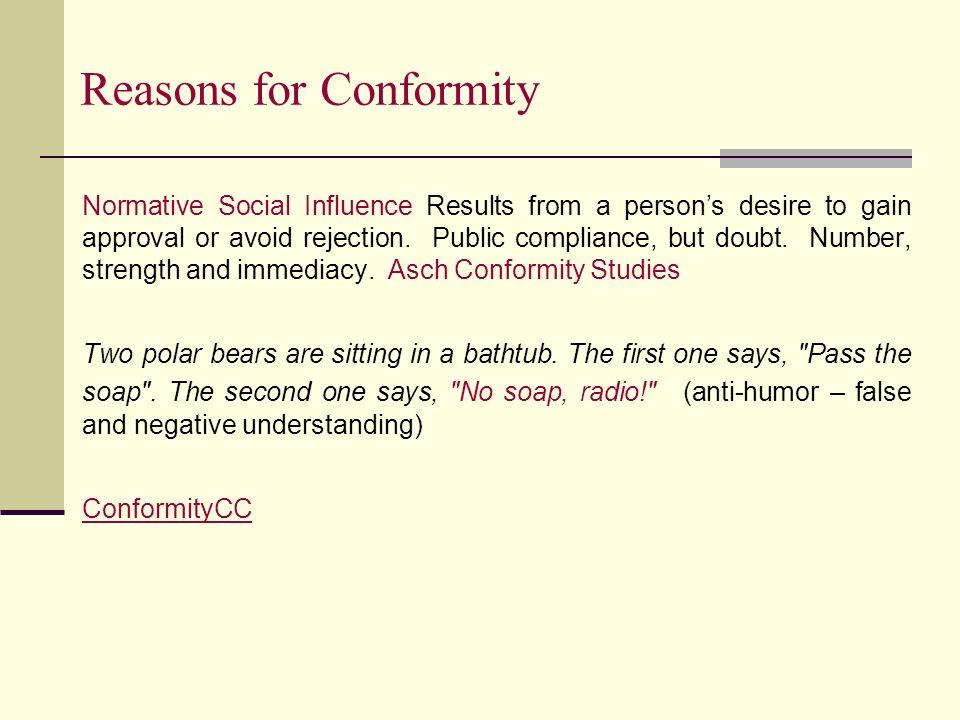 reasons for conformity
