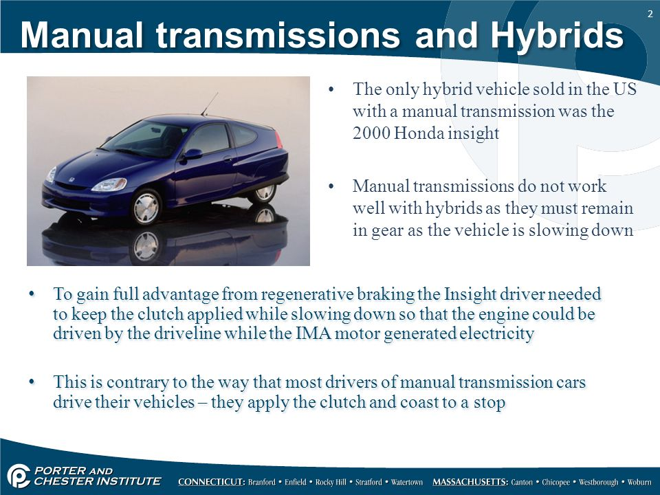 Manual Transmissions And Hybrids