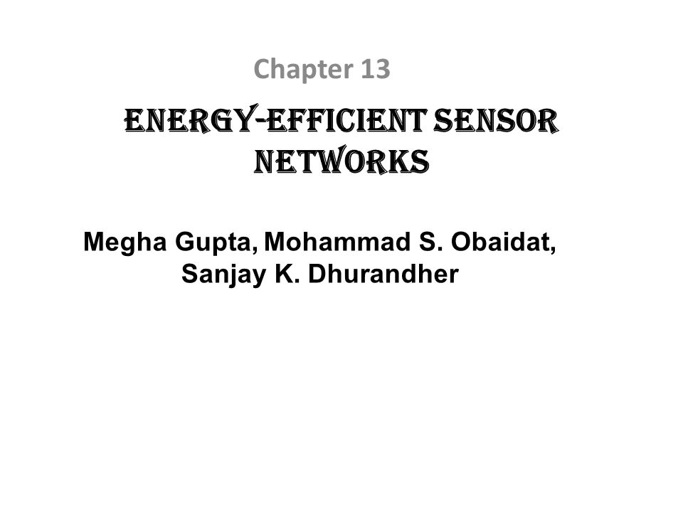 Energy-Efficient Sensor Networks