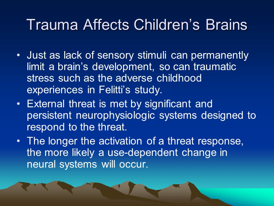 How Trauma Is Changing Childrens Brains >> Issues With Adolescent Methamphetamine Abuse Ppt Video