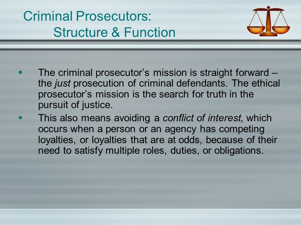 what types of restrictions exist on the ability of the prosecutor to bring charges?