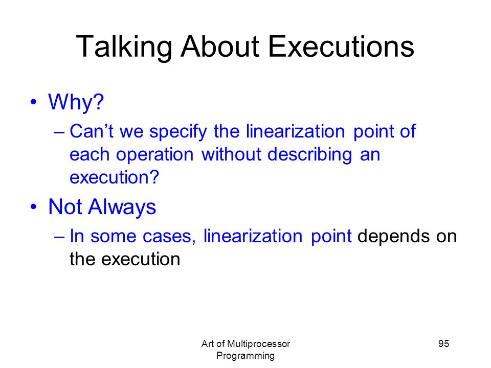 Talking About Executions