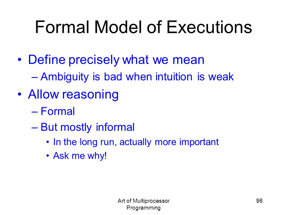 Formal Model of Executions