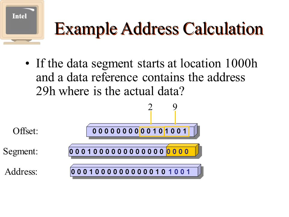 Example Address Calculation