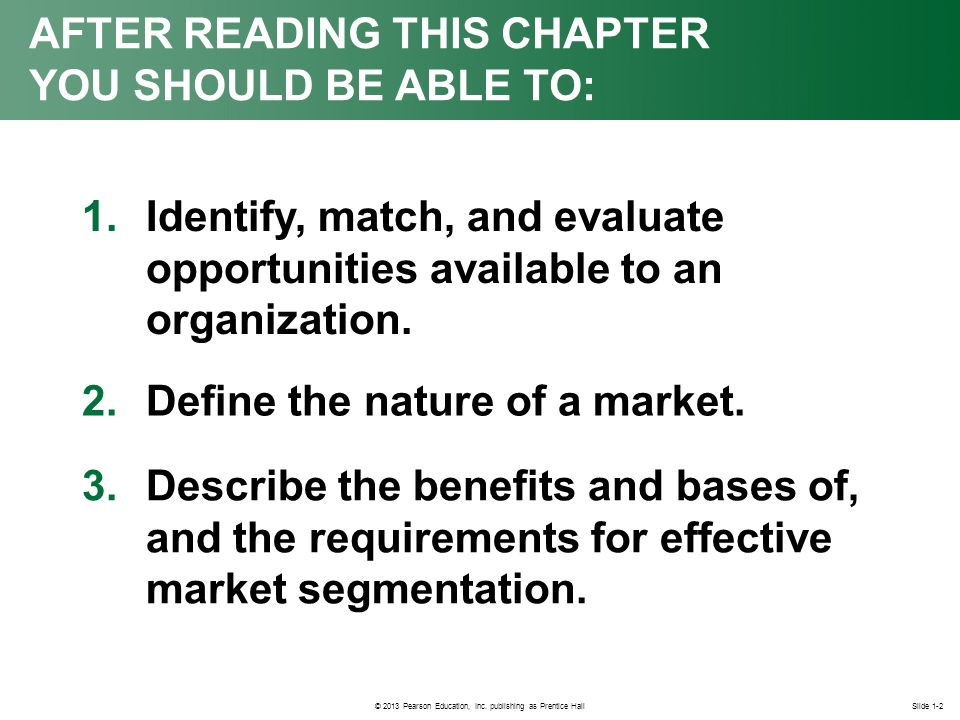 conditions for effective market segmentation