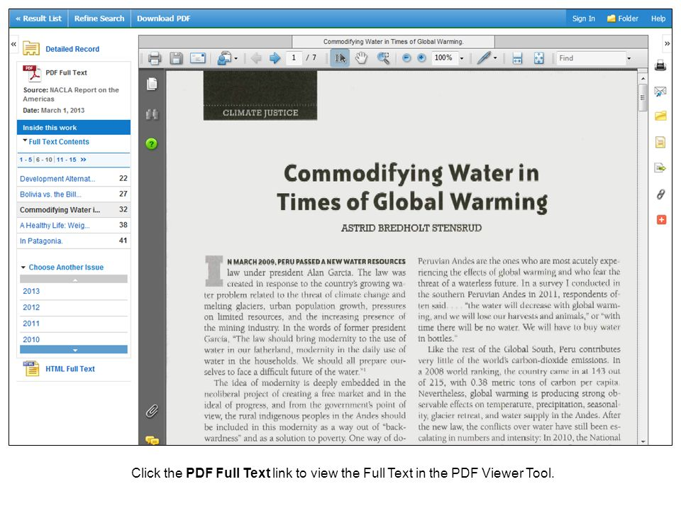 Click the PDF Full Text link to view the Full Text in the PDF Viewer Tool.
