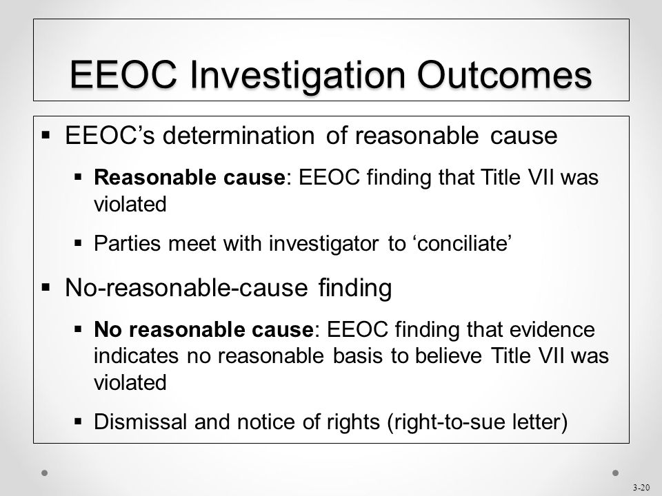 eeoc right to sue letter chapter 3 title vii of the civil rights act of ppt 21444 | EEOC Investigation Outcomes
