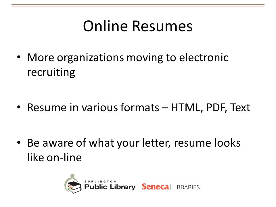 Online Resumes More organizations moving to electronic recruiting
