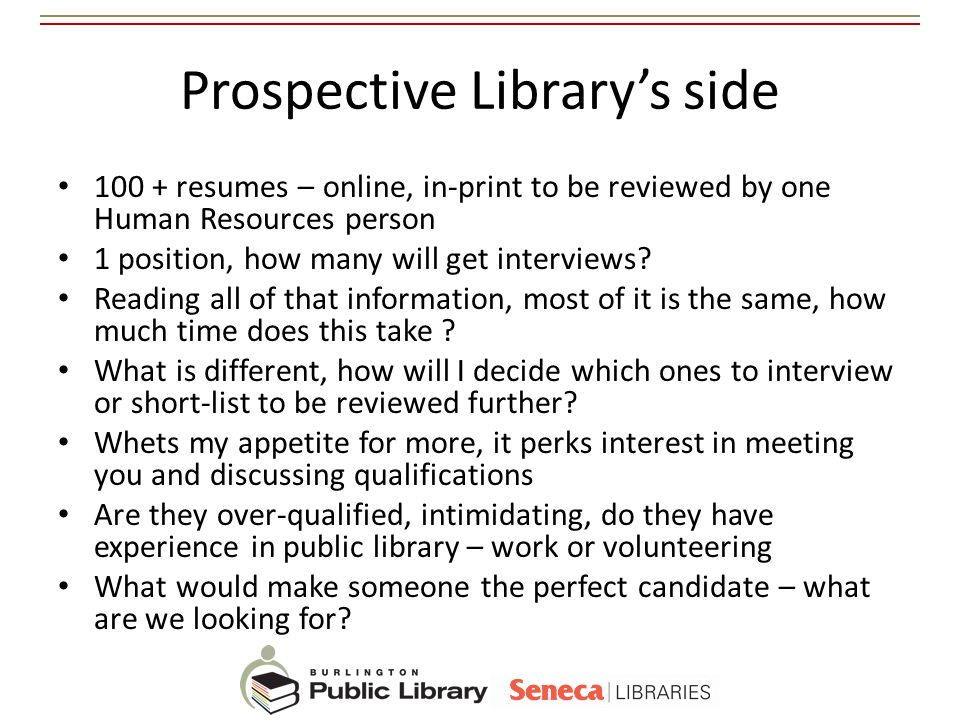 Prospective Library's side