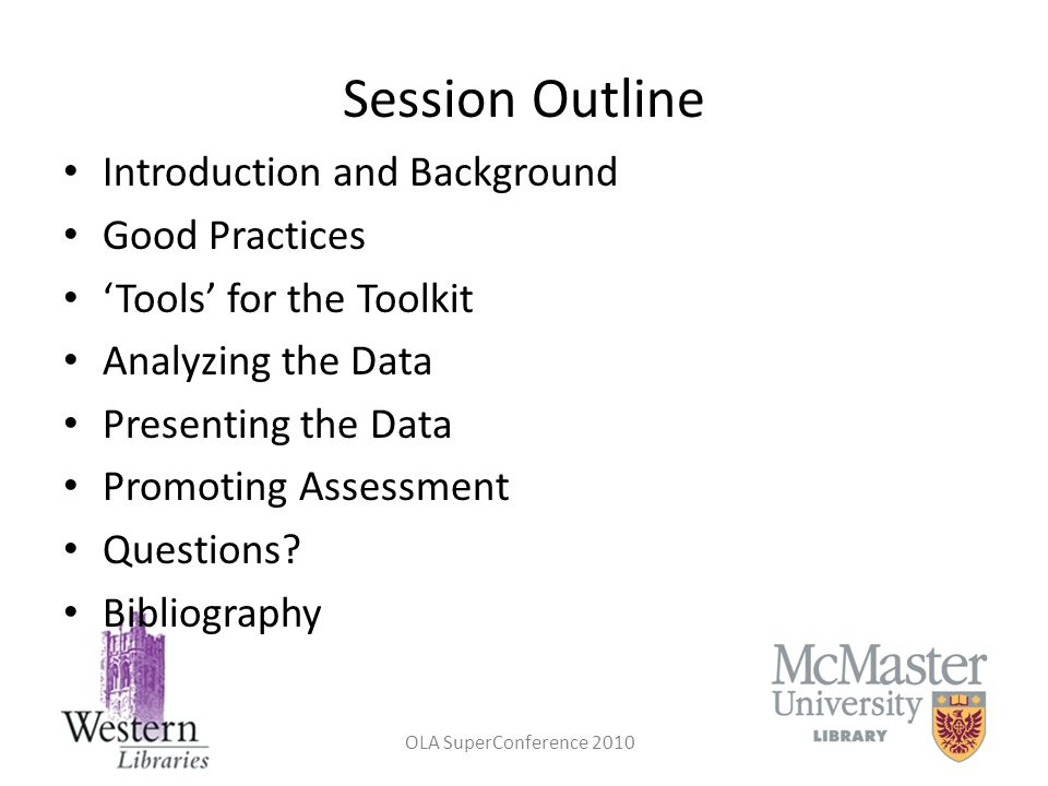 Session Outline Introduction and Background Good Practices
