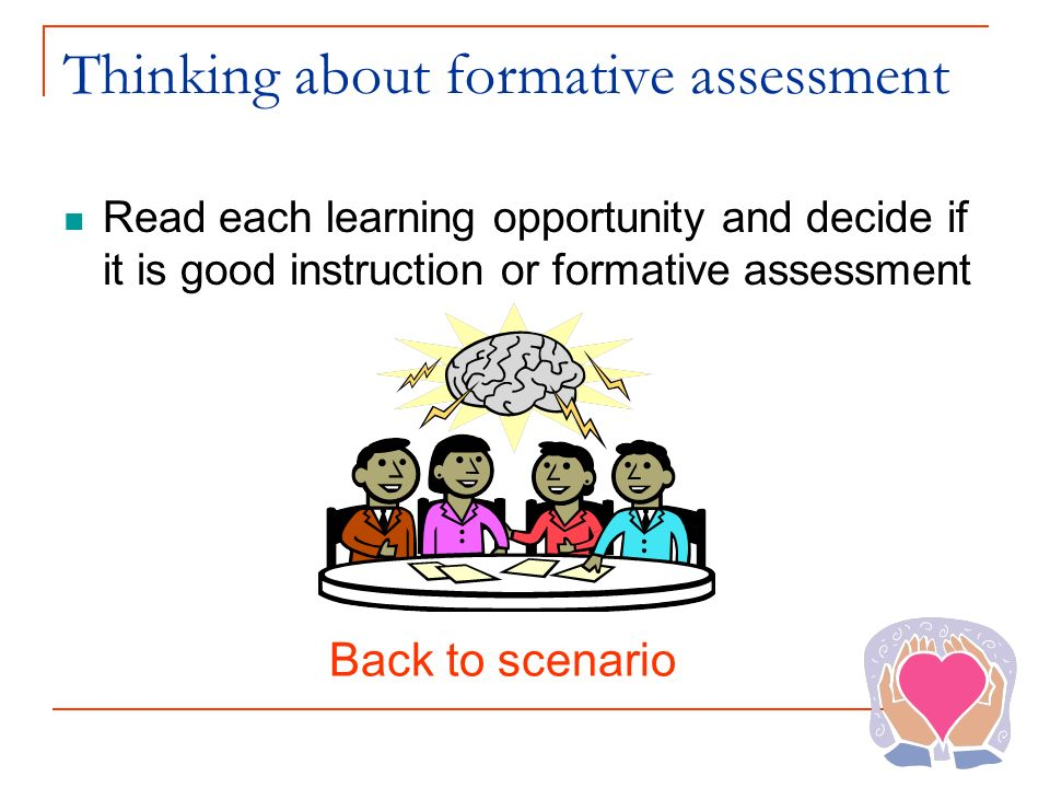Thinking about formative assessment