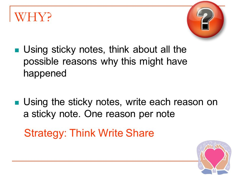 WHY Strategy: Think Write Share