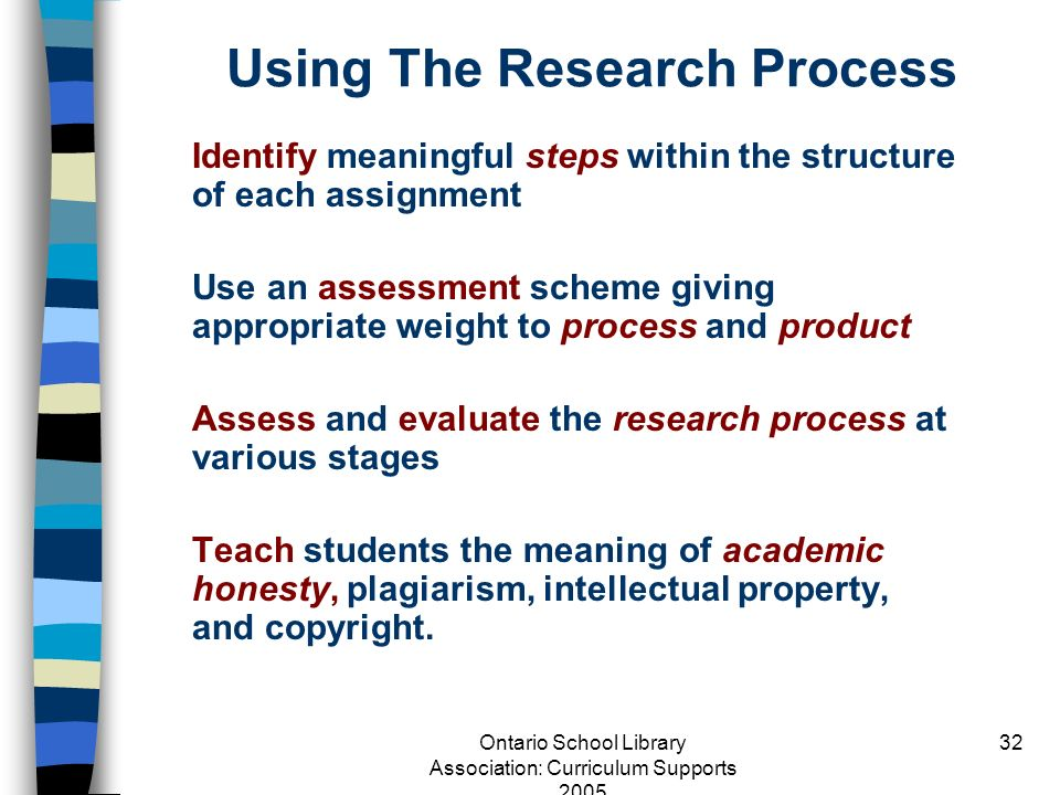 Using The Research Process