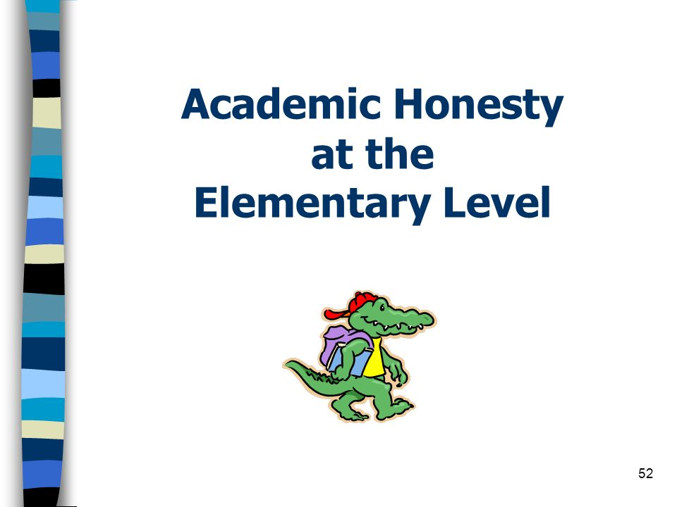Academic Honesty at the Elementary Level