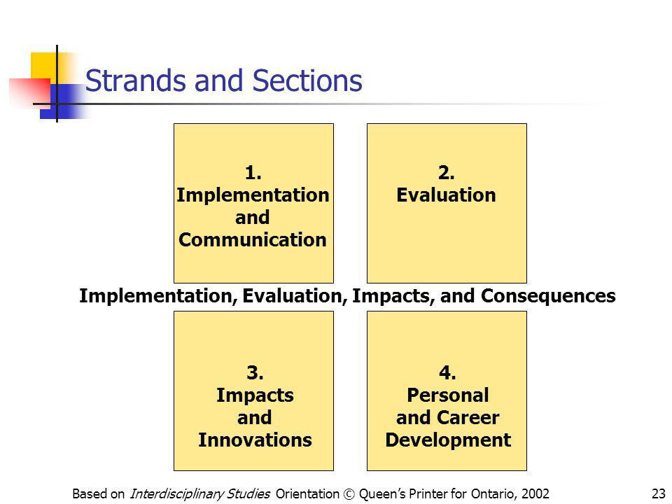 Implementation, Evaluation, Impacts, and Consequences
