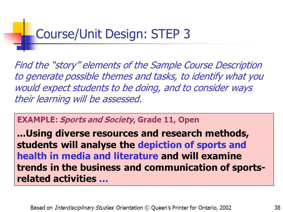 Course/Unit Design: STEP 3