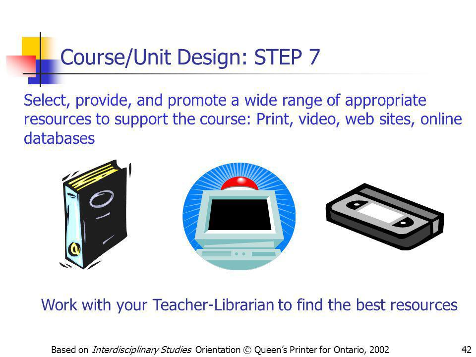 Course/Unit Design: STEP 7