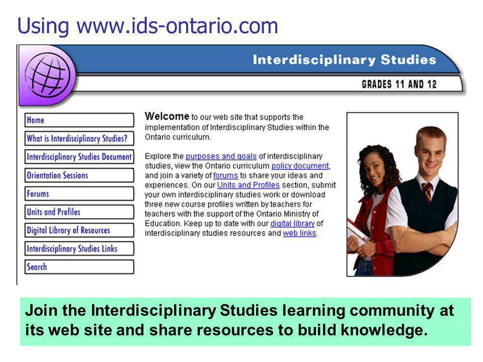 Using www.ids-ontario.com