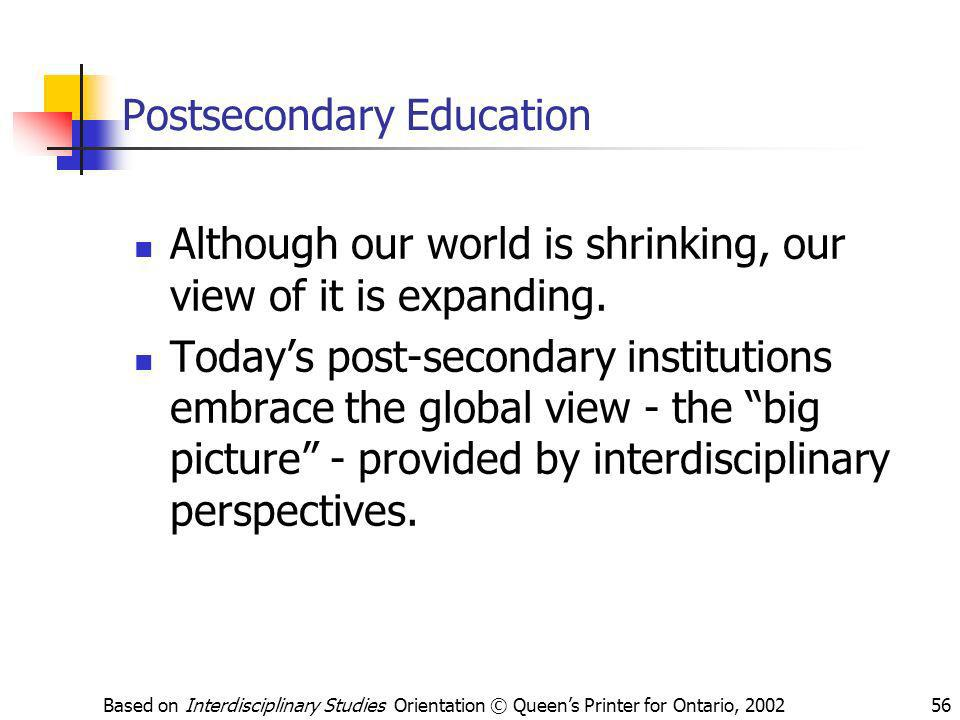 Postsecondary Education
