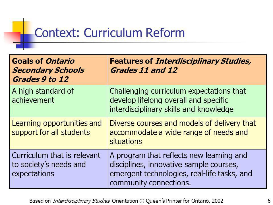 Context: Curriculum Reform
