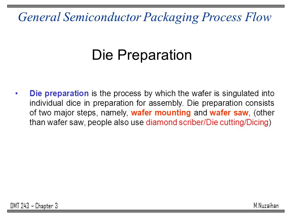 General Semiconductor Packaging Process Flow - ppt video