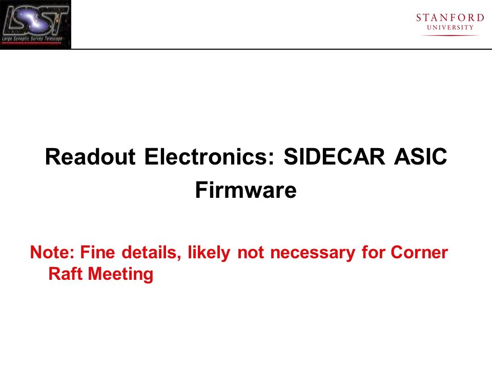 Readout Electronics: SIDECAR ASIC