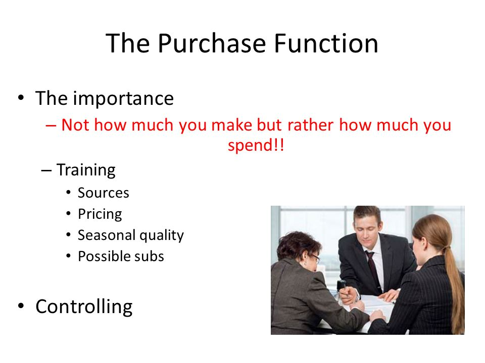 what is purchasing function