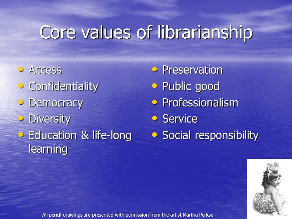 Core values of librarianship