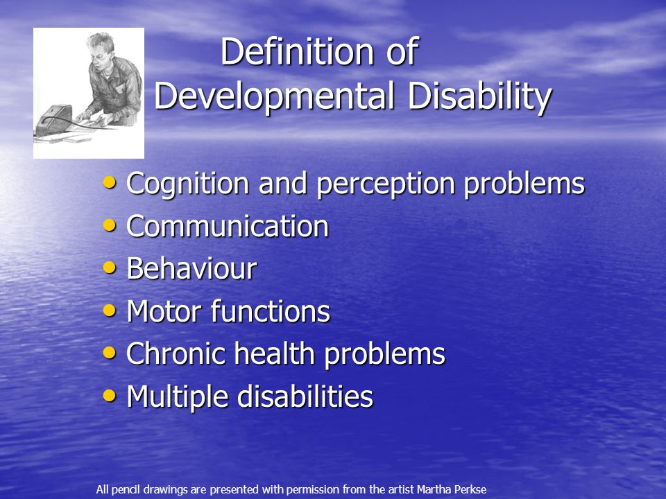 Definition of Developmental Disability