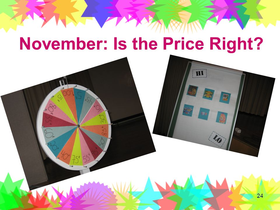 November: Is the Price Right