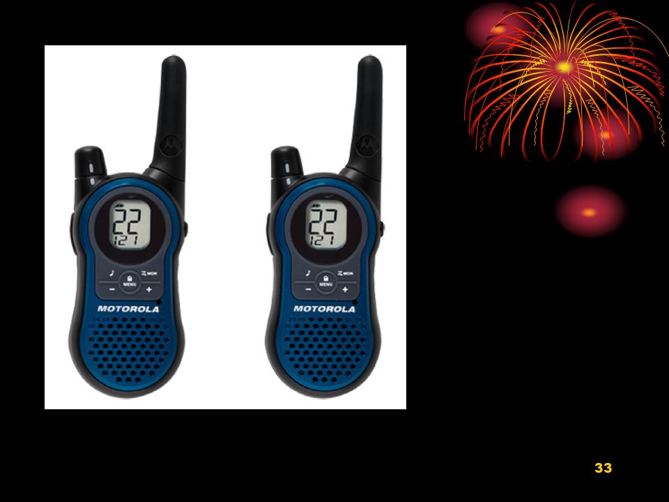 Motorola 2 Way Radios with 22 channels and a 22 km range (60)