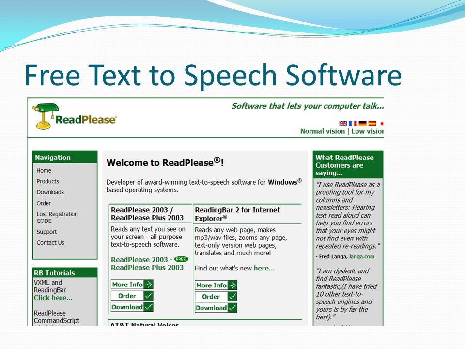 Free Text to Speech Software