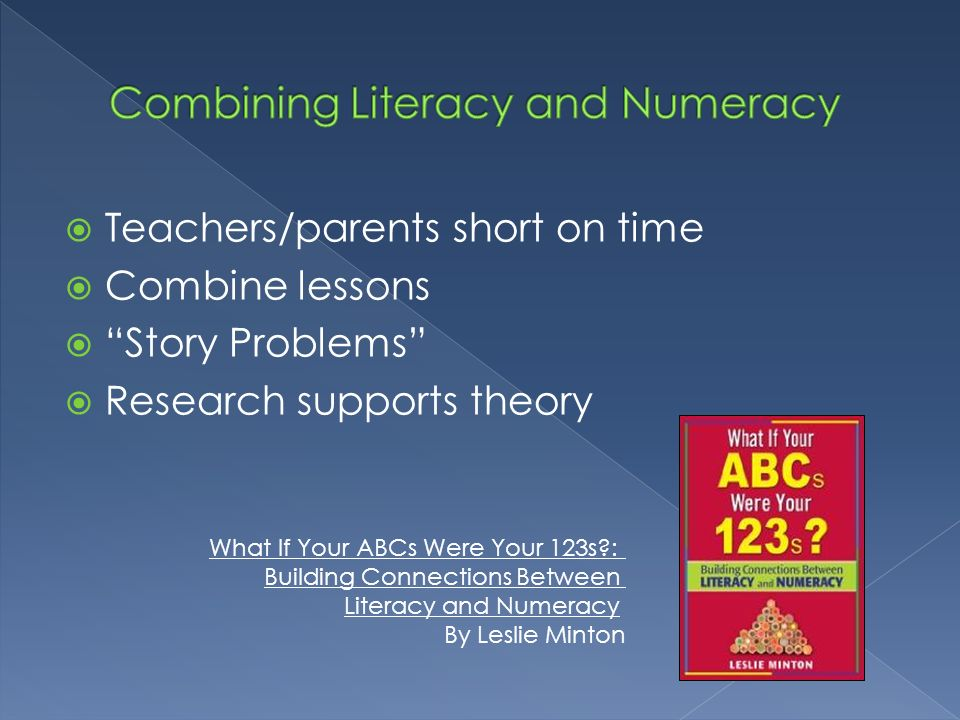 Combining Literacy and Numeracy