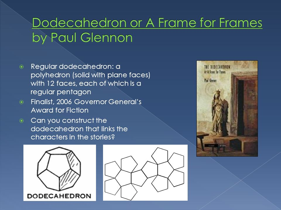 Dodecahedron or A Frame for Frames by Paul Glennon