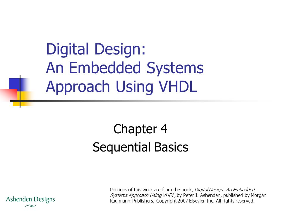Digital Design An Embedded Systems Approach Using Vhdl Ppt Download