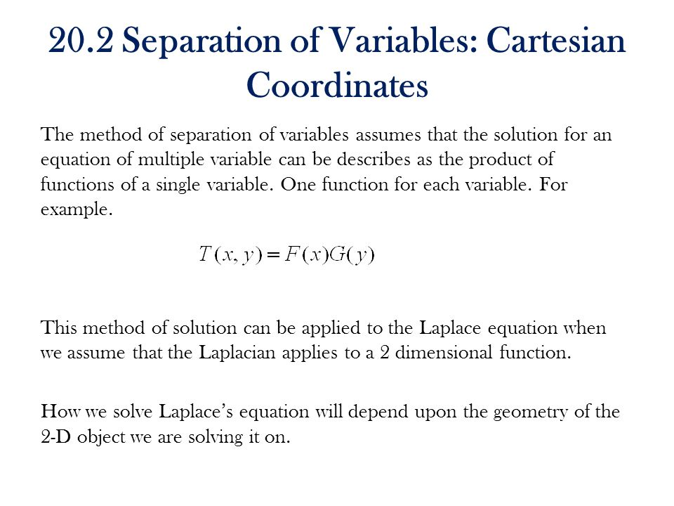 CHAPTER 20 LAPLACE EQUATION - ppt video online download