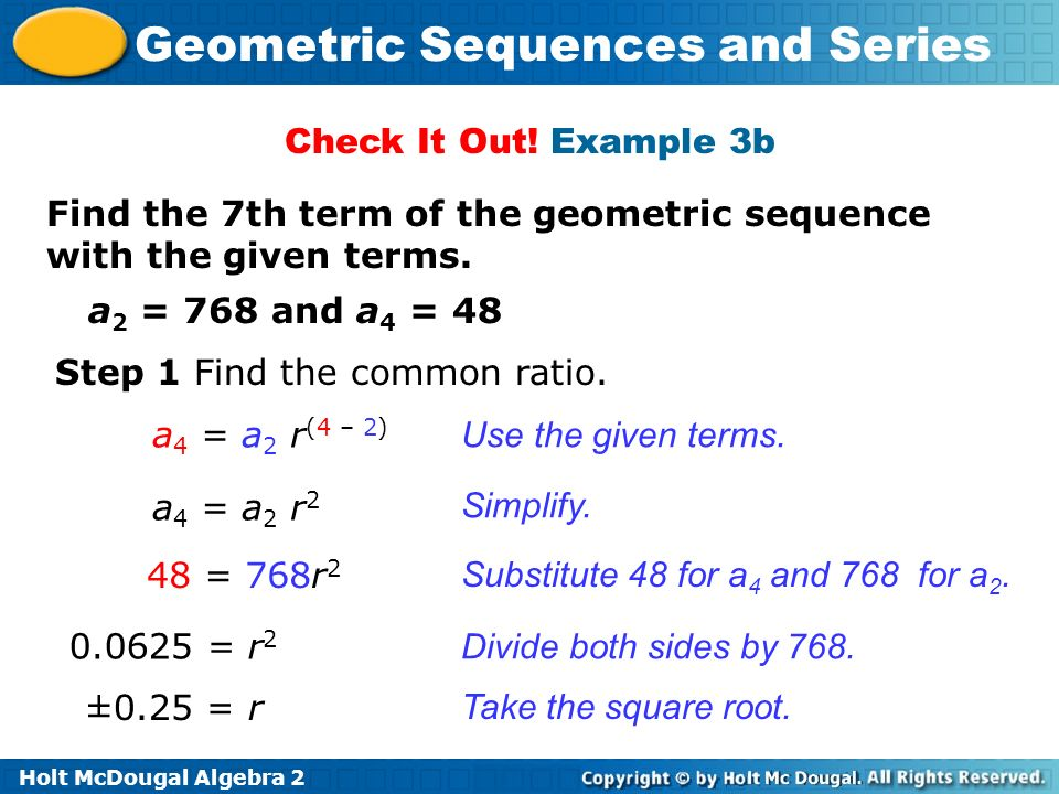 Geometric Sequences and Series - ppt video online download
