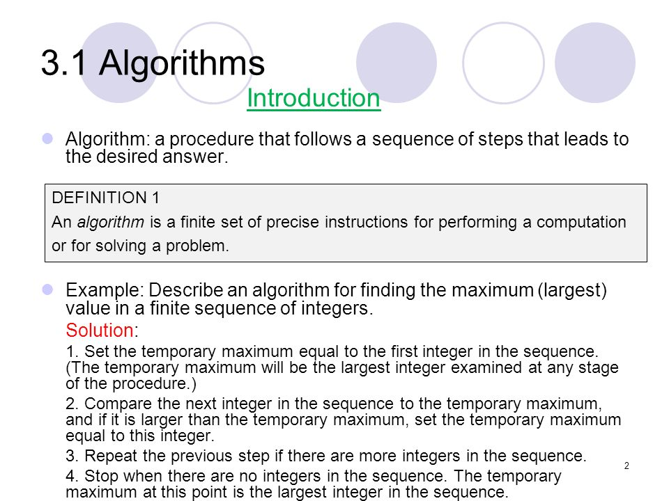 3.1 Algorithms Introduction